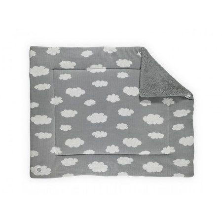 Jollein Boxkleed Clouds grey 80x100cm