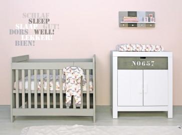 2 Delige Babykamer.Bopita Babyflex Basic Wood 2 Delige Babykamer