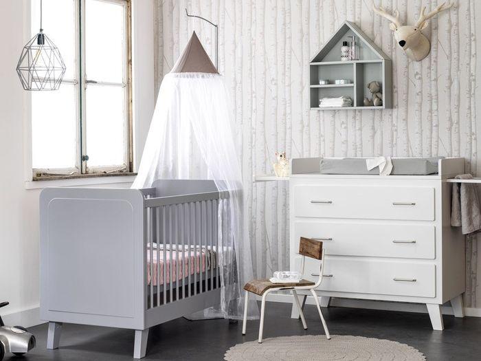 Complete Babykamer 3 Delig.Coming Kids Babykamer 3 Delig Scandi Grijs