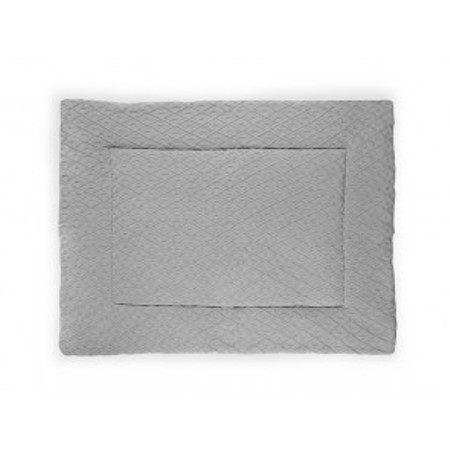 Jollein Boxkleed Diamond knit grey 80x100cm