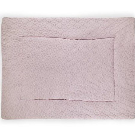 Jollein Boxkleed Diamond knit vintage pink 80x100cm