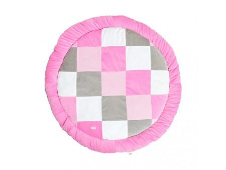 Jollein Boxkleed Rond Block Pink Grey