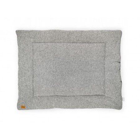 Jollein Boxkleed Stonewashed knit grey 80x100cm