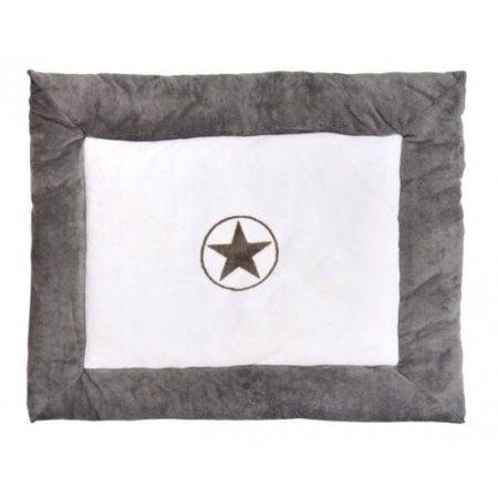 Jollein Boxkleed Circle Star Grey 80x100cm