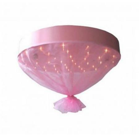 plafonniere carolina roze - lampen babykamer, Deco ideeën